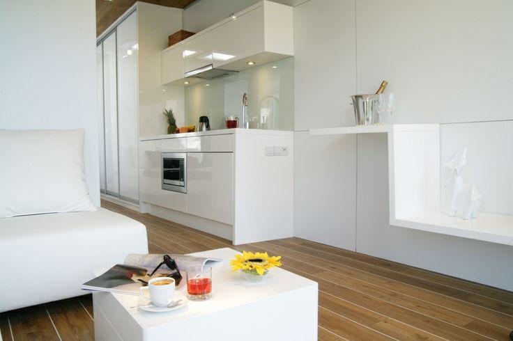 Salon z kuchnia Rubiloft 24m2