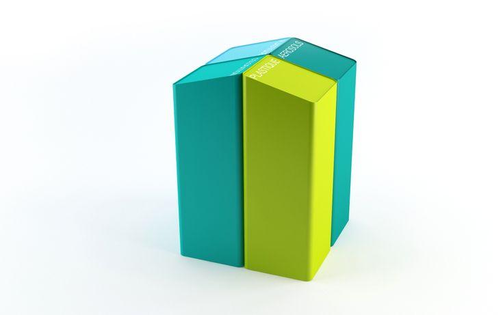 L'Oréal Recycling bins 2011 Stone Designs