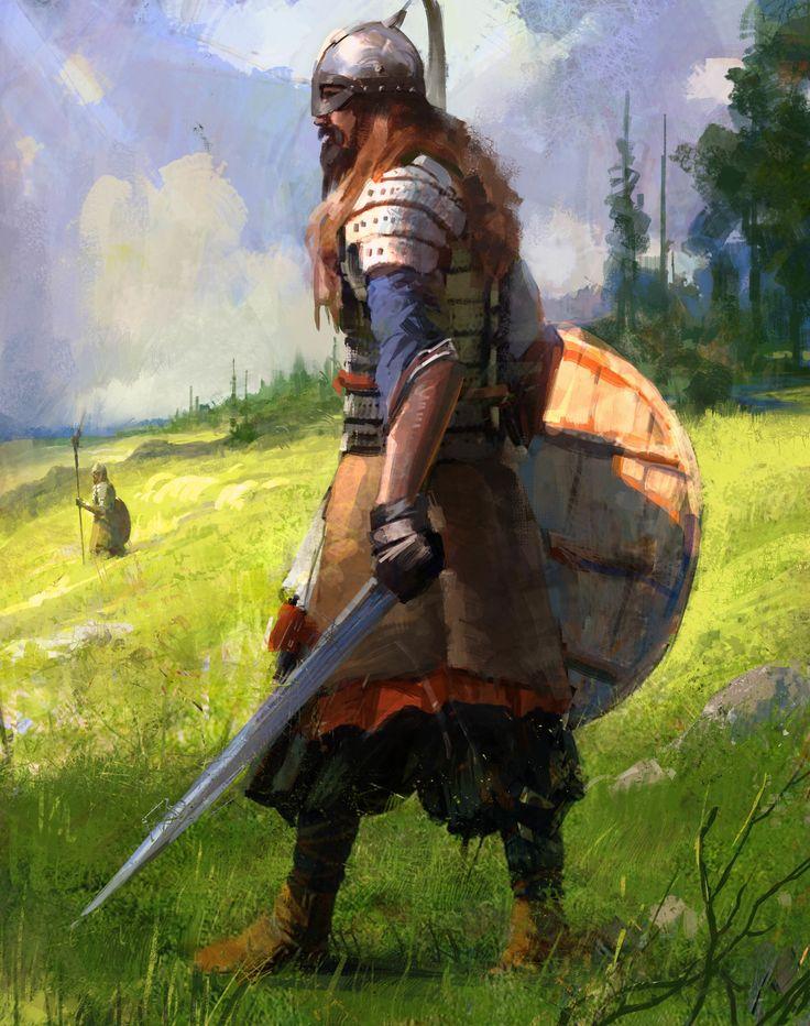The knight, hongqi zhang on ArtStation at https://www.artstation.com/artwork/B2EJ6