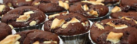 Muffins - Triple Layer, Triple chocolate