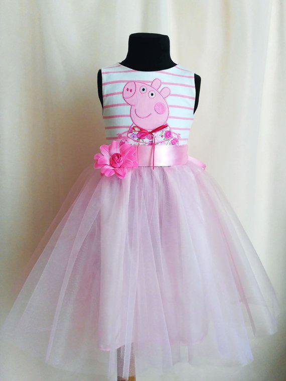 Gentle tulle Peppa Pig Birthday Dress for girls от SugarShopDress
