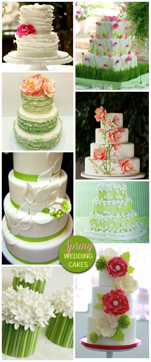 Spring Wedding Cakes - gorgeous!