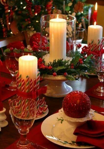 decoracion de la mesa en navidad!