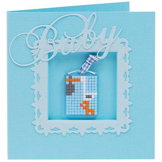#ideeën #doe-het-zelf #knutselen #pixelhobby #pixelen #hobby #inspiratie #kaarten #3D #creaties #jongen #boy #baby #geboorte #geboortenkaart