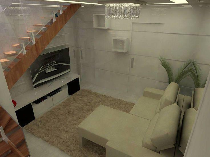 Sala de estar.   projeto p/ sala de estar  R&A.   #design #interiordesign  #designerdeinteriores #mdf #clean  #architecture #vray #sketchup #planejados #espelhos #sala #saladeestar  #home #livingroom #reforma #escada #tercafeira #painelmdf #painel #rebaixamentodegesso #gesso #gesso3d