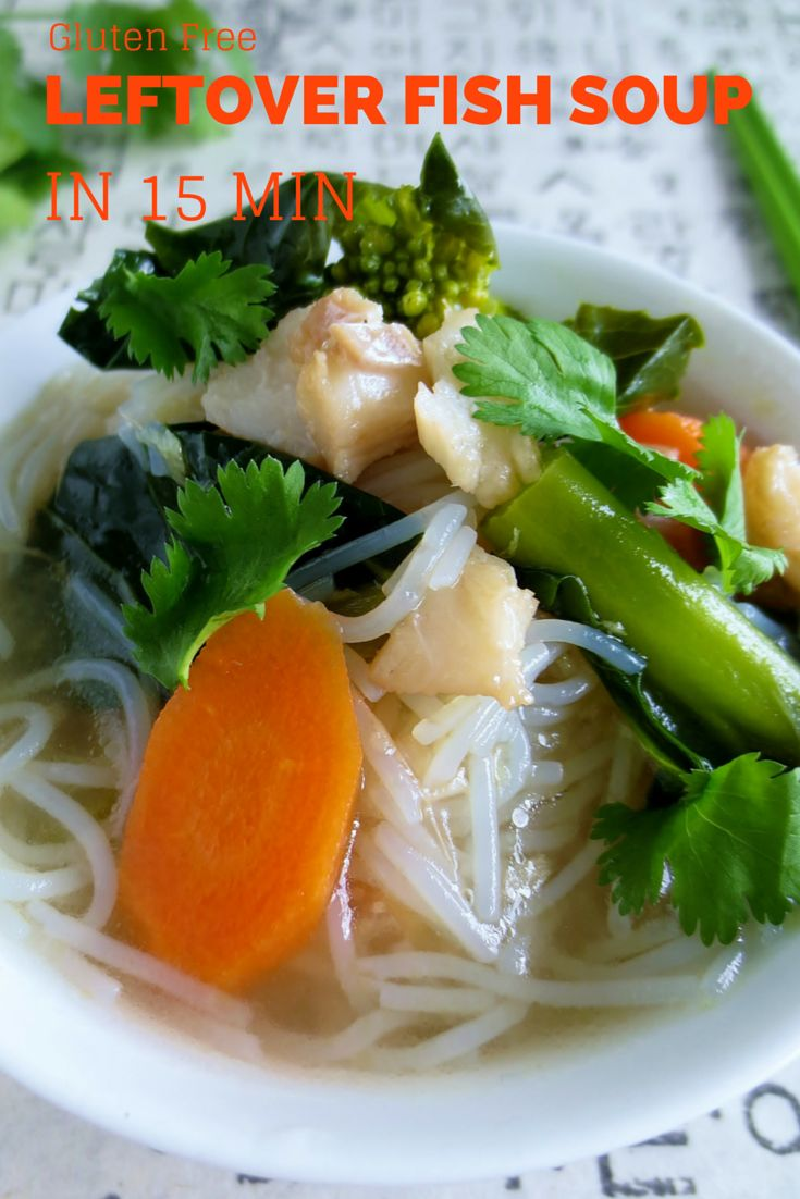Fish soup recipe using leftover fish economical and for Leftover fish recipes