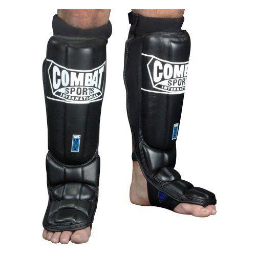 Combat Sports Gel Shock Pro-Style Grappling Shin Guards, Regular, Black by Combat Sports. Combat Sports Gel Shock Pro-Style Grappling Shin Guards, Regular, Black. Regular.
