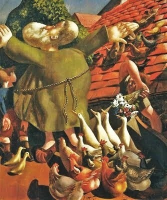 Stanley Spencer, St Francis and the Birds
