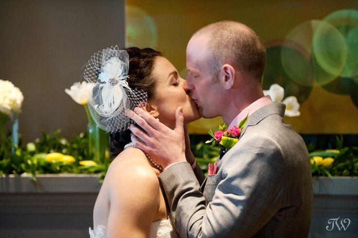 Calgary wedding photographer   wedding ceremony   first kiss   The Pop-up wedding   @hotelartsgroup @knotplanning