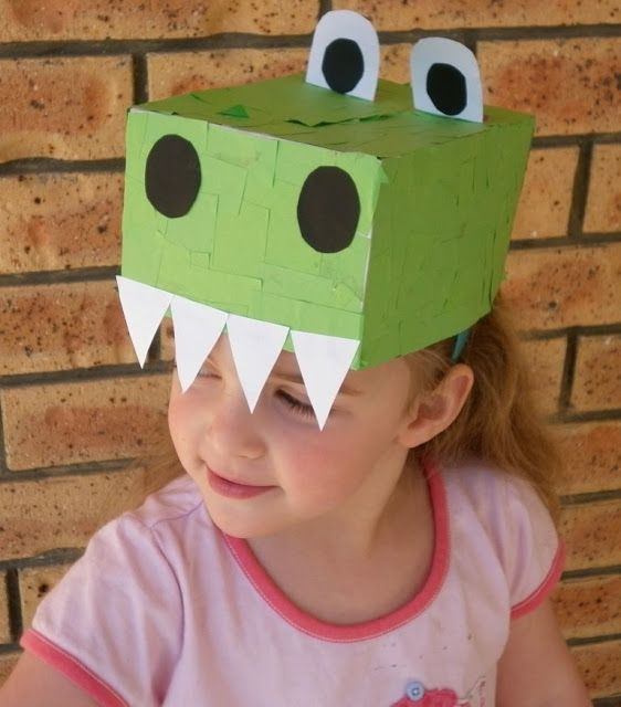 #dinosaurio #gorro Dinosaur Crafts For Kids: Hats, Dinosaur Hat, Dinosaur Crafts, Box Dinosaur, Hat Craft, Baby Piranha, Dinosaurs, Craft Ideas