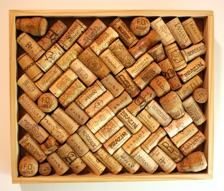 How to make a cork board out of wine corks cork board