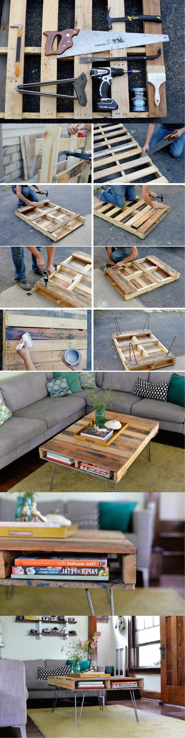 Best 25 pallet coffee tables ideas on pinterest pallett for Table basse palette