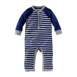 Caravan Stripe Henley Romper   Inspired by traditional Berber wraps, the stripes on this little Henley keep things cool.