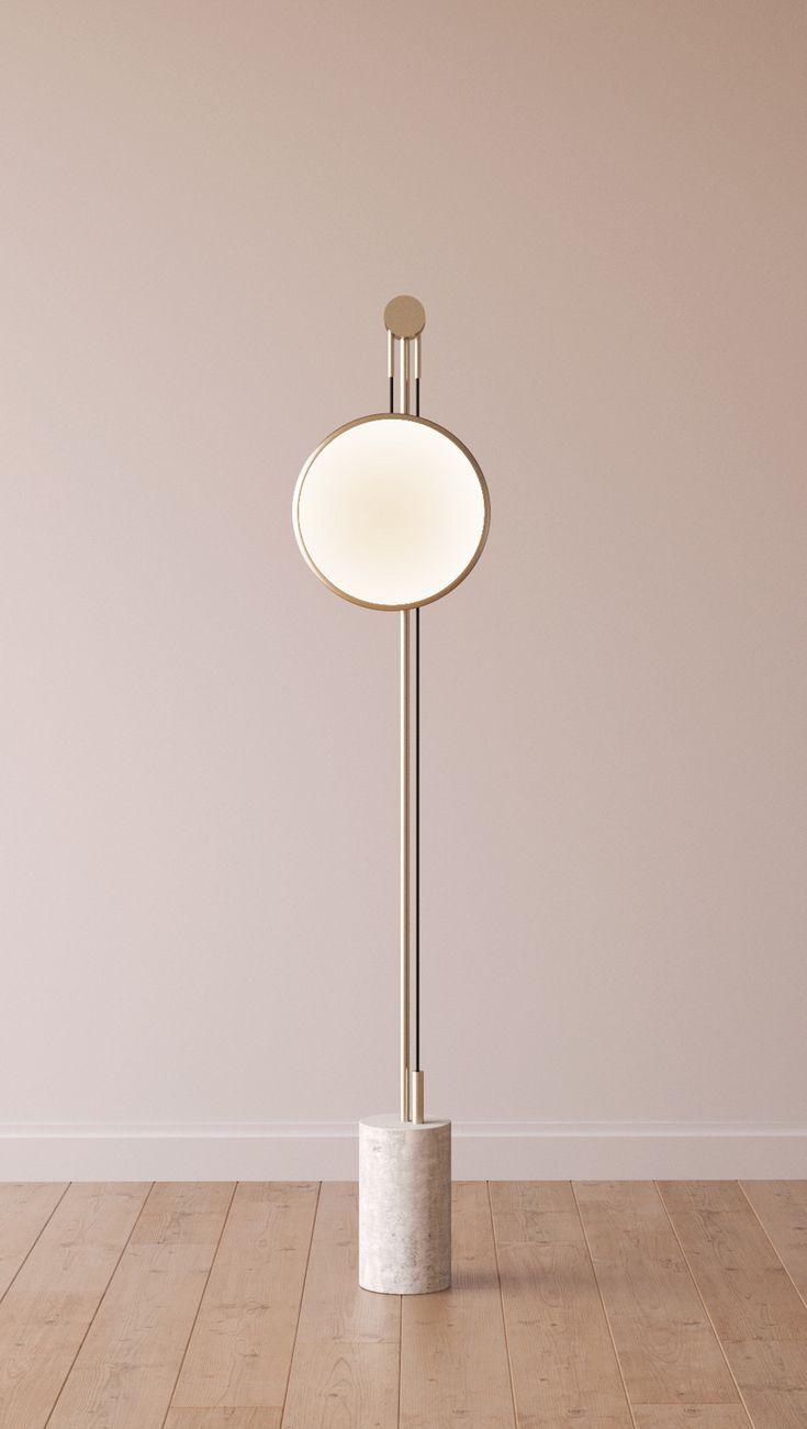 Indirect light metal floor lamp SOLEDAD by ROCHE BOBOIS | design Elsa Pochat, Elí Séval-Hernàandez