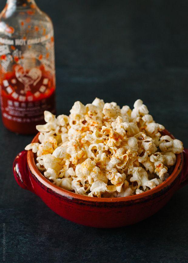 Spicy Sriracha Popcorn | 17 Power Snacks For Studying
