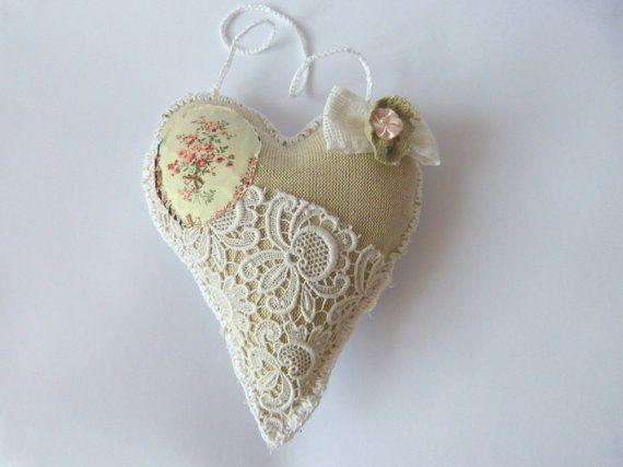Heart Shabby Chic  Heart Gif by CrossStitchElizabeth on Etsy