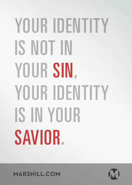 In Christ, you're forgiven. You're not a little bit forgiven, you're totally forgiven. God doesn't keep a record against you, it's erased in Christ.     When you sin tomorrow, or the next day, or the day after that, remember that your identity is not in your sin, your identity is in your Savior; that you don't need to pay God back, that Christ already has; that God isn't punishing you, that Christ already was. Then you can live through your identity in Christ.     Sermon…