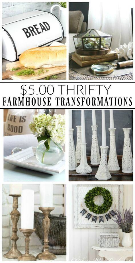 $5.00 Thrifty Farmhouse Transformations   Little House of Four: $5.00 Thrifty…