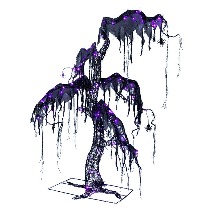 outdoor halloween decorations halloween tree with led multi function and multicolor lights - Lowes Halloween Decorations