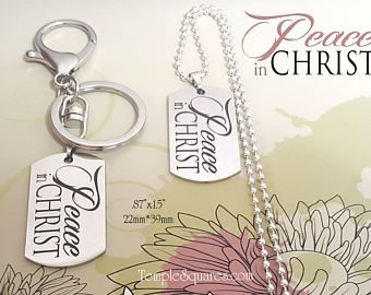 Peace In Christ 2018 YW Young Women Jewelry Necklace, Charm, Keychain D&C 19:23 Mutual Theme Birthday New Beginnings Free Organza Gift Bags