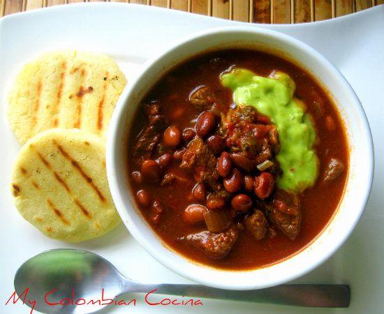 Sopa de Frijoles con Carne Colombia, cocina, receta, recipe, colombian, comida.