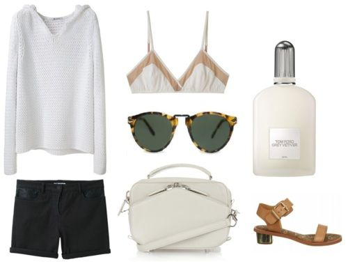 perfect summer outfit (the sweater might not work where I live, but I love the look anyway)
