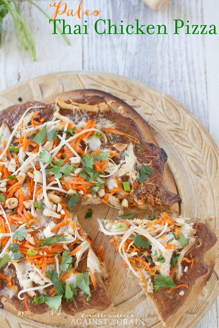 Gluten-Free Thai Chicken Pizza from Danielle Walker's Against all Grain.