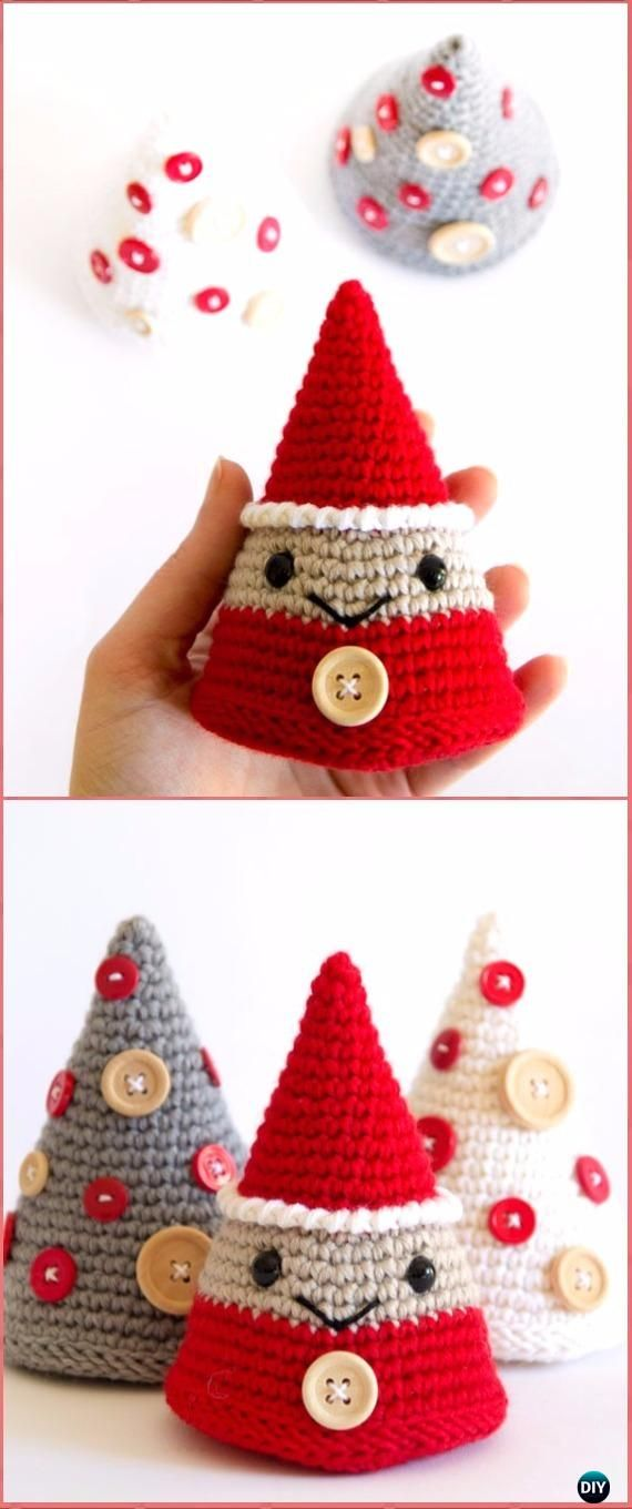Crochet Decorative Christmas Tree Cone Free Pattern - Crochet Christmas Tree Free Patterns