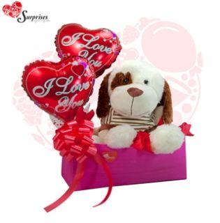 Perro I Love You. Muchas veces no sabemos cuál es el regalos ideal y con este hermoso REGALO encontraras la manera perfecta de decir ¡FELICIDADES! Estamos para servirte www.surprisesbogo... tel: 4380157 Cel: 3123750098