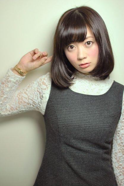 大人可愛いナチュラルなボブディスタイル♪黒髪でツヤと潤いを。毛先ワンカールの簡単スタイリングです。 | 東京都・青山・表参道の美容室 NATURAのヘアスタイル | Rasysa(らしさ)