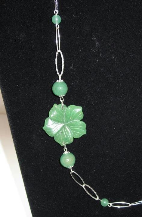 Collana in argento e avventurina verde (dettaglio) www.facebook.com/VioletArtBijoux