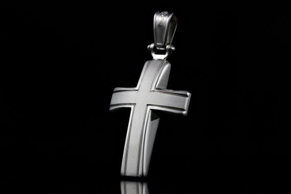 Handmade Cross 925 Sterling Silver with by ZografosCrosses on Etsy, €56.00