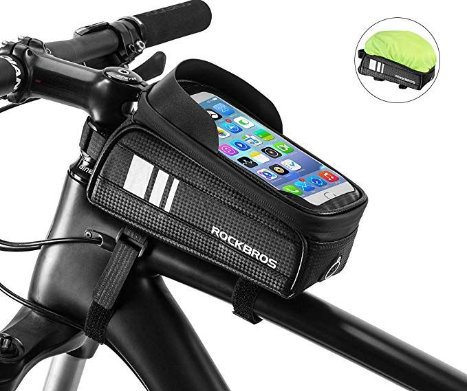 Bicycle Waterproof Tube Frame Bag Case Bag Pannier Cycling Bike Tube Pouch With