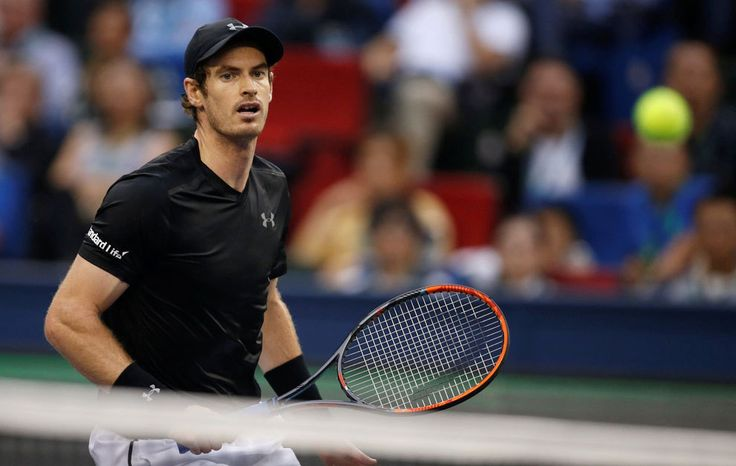 Andy Murray powered his way to a third Shanghai Masters title by beating Spanish 15th seed Roberto Bautista Agut 7-6(1) 6-1 in Sunday's final.