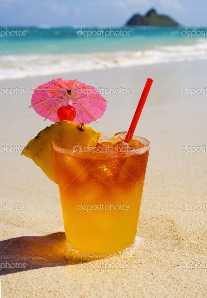 mai tai cocktail with umbrella - photo #3