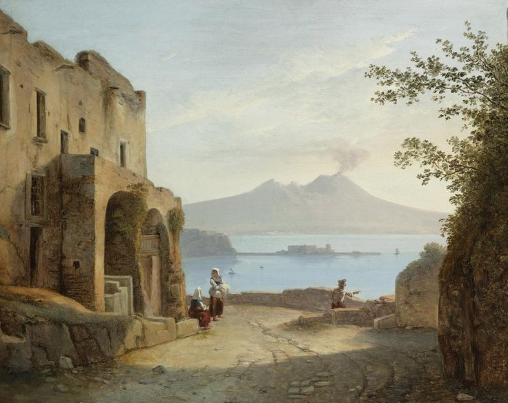 FRANZ LUDWIG CATEL GERMAN SICHT VON NEAPEL AUS POSILLIPO (VIEW OF NAPLES FROM POSILLIPO)