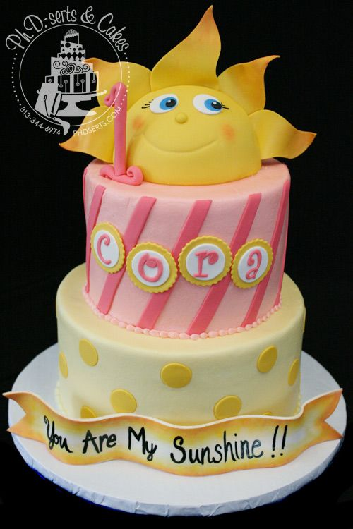 """you are my sunshine birthday cakes   were asked to create a cake with the theme """"You Are My Sunshine ..."""