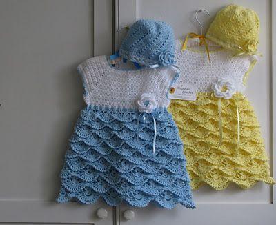 Magia do Crochet: vestido em crochet para menina