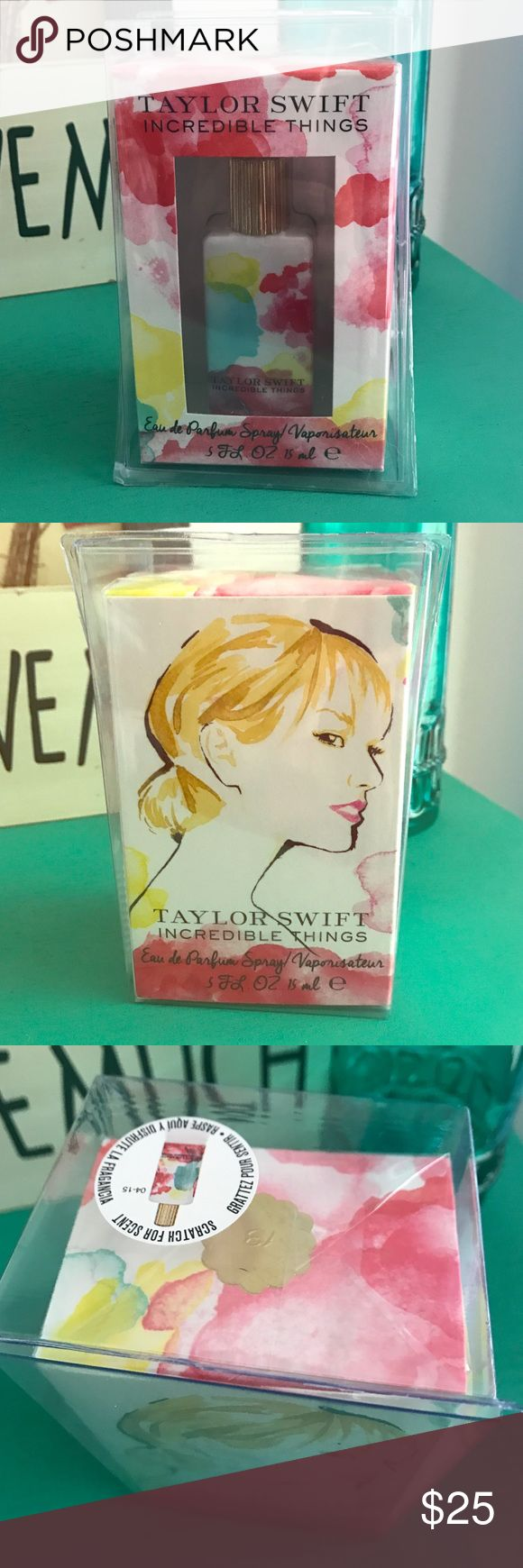 Incredible Things Perfume by Taylor Swift .5 fl oz Brand new in package. Received multiple for Christmas! Taylor Swift Makeup