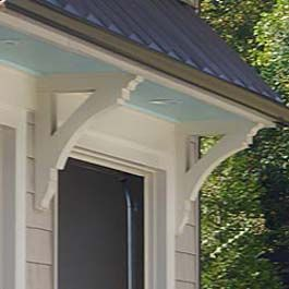 cedar brackets supporting garage overhang painted white & 25 best CORBELS u0026 BRACKETS images on Pinterest | 19th century ... pezcame.com