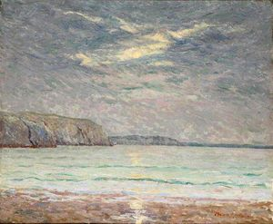 Cliffs at Sunset - (Maxime Maufra)