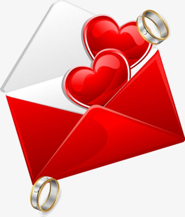 The Red Heart Shaped Ring Of The Envelope With Images Heart
