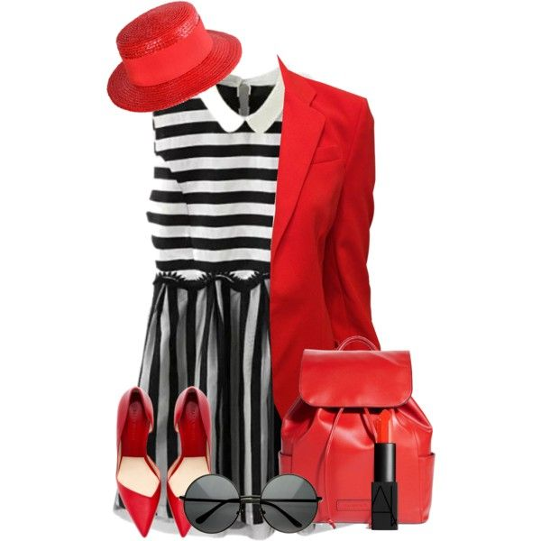 Black and Red by madamblue25 on Polyvore featuring polyvore fashion style Balenciaga Vera Bradley Givenchy NARS Cosmetics