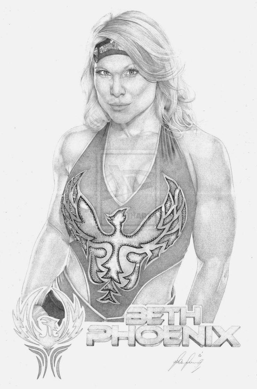 Beth Phoenix by Lucas-21 on deviantART ~ WWE ~ traditional pencil art
