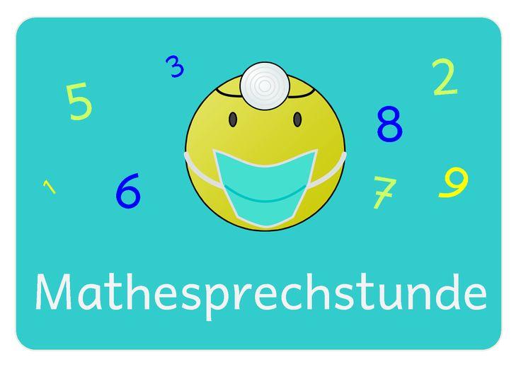 Ich weiß leider gar nicht mehr, wo ich diese witzige Idee einmal gefunden habe, aber auch die Großen lieben ihre Mathesprechstunde immer no...