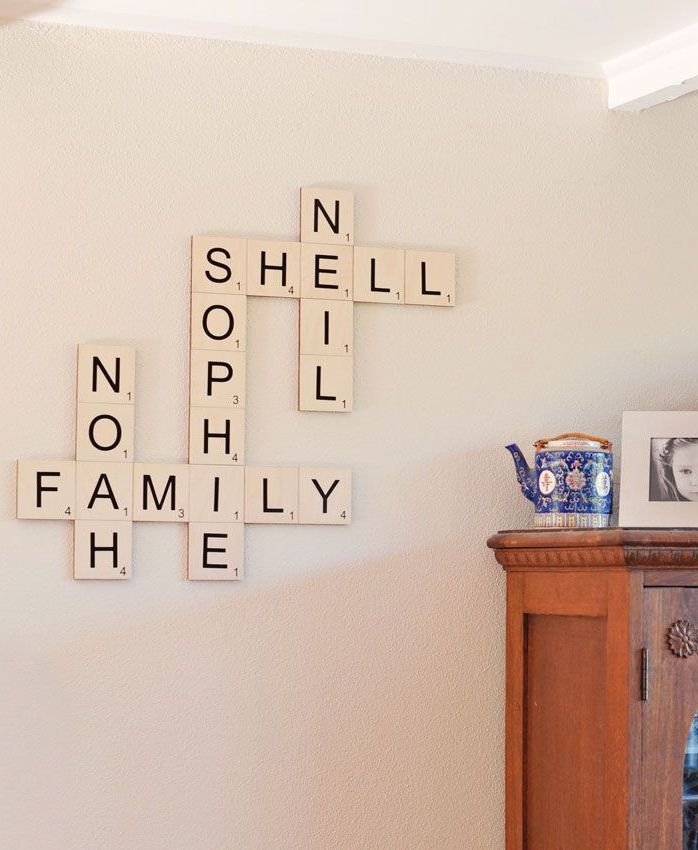 Family Names Wall Art - Cute Idea!