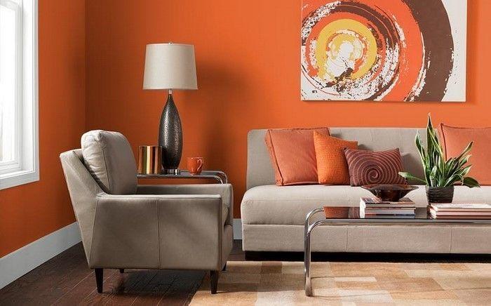 f\\u00fcr Wohnzimmer in Orange: 80 Wohnideen!