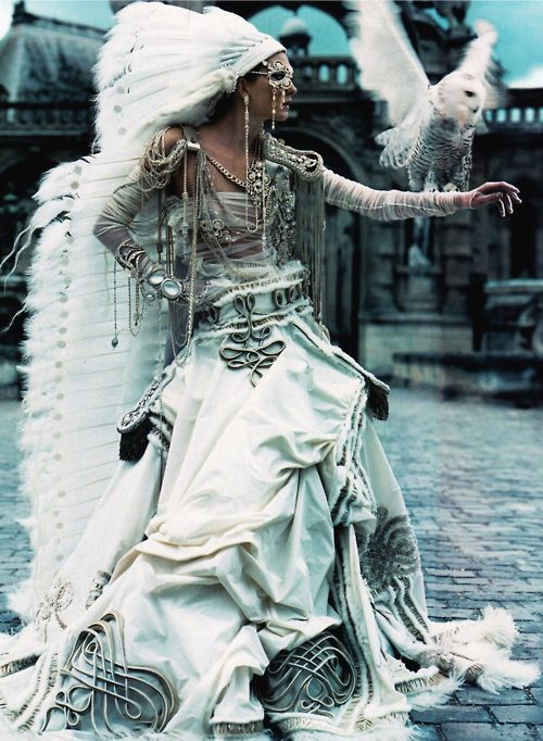 Maggie Rizer in 'The Life Fantastic'  Photographer: Craig McDean  Ensemble: Jean Paul Gaultier Haute Couture F/W 2002/03  Vogue US October 2002
