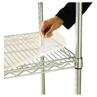 """Alera Shelf Liners For Wire Shelving 48w X 18d Clear Plastic 4/Pack Flexible Crystal Clear by Alera. $48.28. For use over matching sized wire shelves.. Shelf Liners For Wire Shelving, 48w x 18d, Clear Plastic, 4/Pack.. Ideal for small item storage.. Flexible, crystal clear and easy to clean.. Color(s): Clear Size: 48""""w x 18""""d Quantity: 4 per pack.. Material(s): Plastic. Unit of Measure: Pack."""