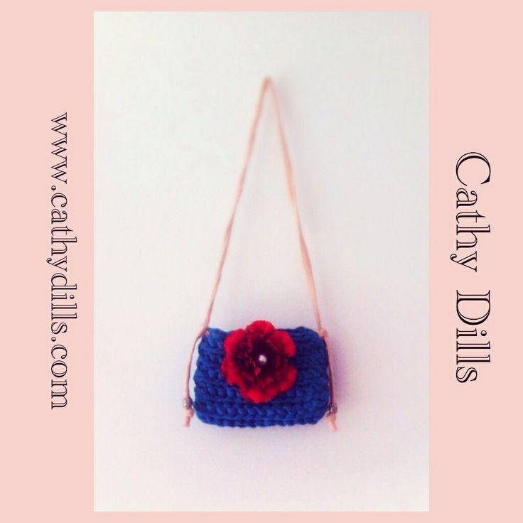 """""""Red flower turquoise handbag for girls"""" by Cathy Dills.  www.cathydills.com"""